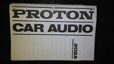 Proton 202a owners manual original car radio stereo cassette tape player