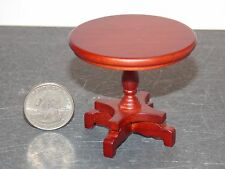 Dollhouse Miniature Round Mahogany End Side Table  1:12  one inch scale  F62