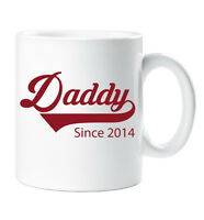 Personalised Daddy Since Mug Fathers Day Present Gift Christmas Birthday New Dad