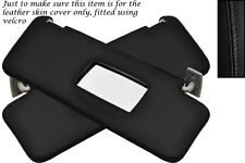 BLACK STITCH FITS MERCEDES C CLASS W202 93-00 2X SUN VISORS LEATHER COVERS ONLY