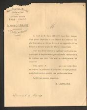 """CHATEAUROUX (36) MAGASIN de FERS """"Emile LEMAIRE / Alphonse LEMAIRE Succ"""" en 1879"""