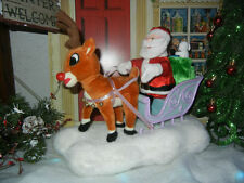 ANIMATED SANTA and  RUDOLPH SLED from the RED NOSED REINDEER CHRISTMAS DISPLAY