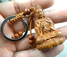 Hand-carved Buddha Wooden Crafts,Key Chain,Key Ring Lover w6