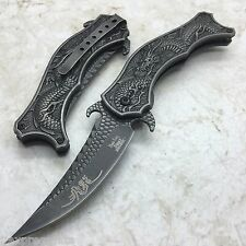 DARK SIDE BLADES Black Dragon Mirror Blade Folding Pocket Knife DS-A019SW