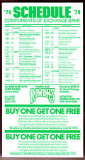 1979 TAMPA BAY ROWDIES SOCCER POCKET SCHEDULE WITH ATTACHED DISCOUNT COUPONS