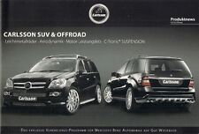 Mercedes-Benz R-Class GLK ML GL Carlsson Tuning Accessories 2009 German Brochure