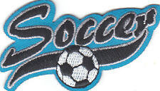 """SOCCER"" PATCH-Iron On Embroidered Applique - Sports, Soccer,Competition"