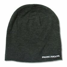 IMAGINE DRAGONS WHITE LOGO OVERSIZED BEANIE HAT NEW OFFICIAL ADULT