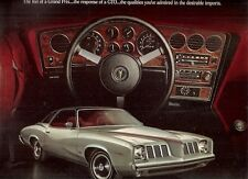 Pontiac Grand Am 1973 USA Market Foldout Sales Brochure 2-dr 4-dr