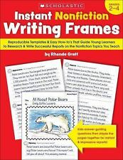 Instant Nonfiction Writing Frames: Reproducible Templates and Easy How-to's That