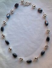"""Robert Lee Morris hematite and Sterling Silver Toggle Clasp Necklace 20"""""""
