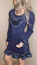 SIMPLY COUTURE Artsy Soft Knit Tunic Sweater Dress Top L Large NWT Dk Navy Blue