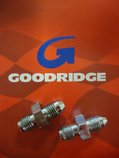 GOODRIDGE PAIR CHROME MALE BRAKE LINE FITTING 3/8-24 AN-3 IF BIG DOG HARLEY AIH