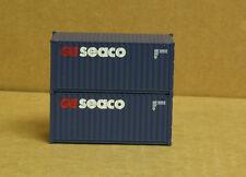 2 Walthers 949-8064, UPGRADED HO 20' Corrugated Containers, Seaco