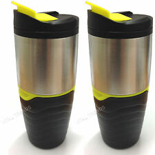2 X Tea Coffee Travel Flask Mug Insulated Thermal Thermos Cup New