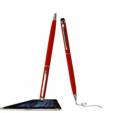 Dual Use Red Touch Screen Capacitive Stylus / Pen For Samsung Iphone Nokia