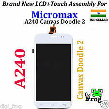 100% Original Micromax A240 Canvas Doodle 2 LCD Touch Screen Digitizer Assembly