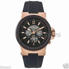 Michael Kors Original MK9019 Men's Black Silicone Chrono / Automatic Watch