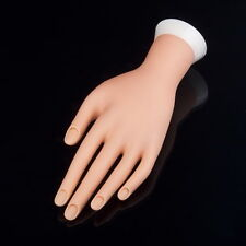 Practice Adjustable Fake Left Hand Model for Nail Art Training and Display OV