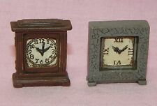 Dollhouse Miniature Clock Set 2 Vintage Style Houseworks Minis 1:12 Scale