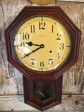 Vintage Hamilton Octagonal Regulator Clock W/Movement-Parts/Repair! Project!