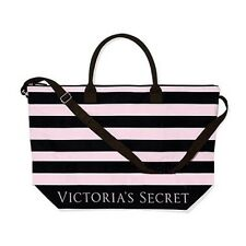 Victoria's Secret Striped Weekender Duffle Bag Pink Black LIMITED EDITION 2015
