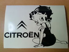 LARGE Betty Boop citroen saxo girls vinyl car bonnet side sticker graphics c van