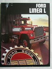Ford Linea L Truck brochure c1980 Spanish text