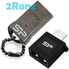Silicon Power T01 Mobile 32GB 32G USB Flash Drive Disk Android Metal+OTG Adapter