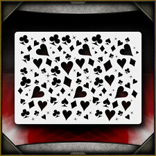 Cards-Suites Pattern Texture Airbrush Stencil Template Airsick