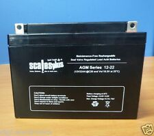 12V 22AH Rechargeable Valve Regulated Sealed Lead Acid Battery 20HR VRLA SLA AGM