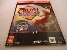 Aidyn Chronicles The First Mage Nintendo 64 N64 Strategy Guide Players Hint Book