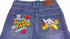 Phat Farm Jeans Youth SZ 16 Eagle Dice Embroidered Denim Pants 30 x 29 Actual