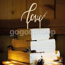 Wooden LOVE Sign Cake Topper Elegant Monogram Wedding Favour Cake Decorating