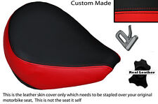 BLACK & BRIGHT RED CUSTOM FITS YAMAHA XVS 650 CLASSIC V STAR FRONT SEAT COVER