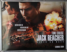 Cinema Poster: JACK REACHER NEVER GO BACK 2016 (Quad) Tom Cruise Cobie Smulders