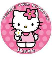 "Hello Kitty Personalised Cake Topper 7.5"" Edible Wafer Paper"