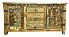 Recycled Timber Carved Country Sideboard Storage Cabinet Buffet TV Stand Retro