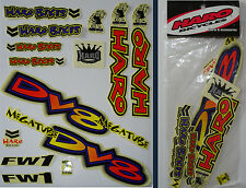 HARO - DV8 MEGA TUBE - BMX Sticker Set - '90s Old School Freestyle BMX Decal Set