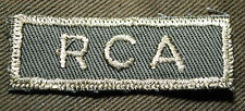 "CANADIAN ARMY COMBAT TAB UNIT BADGE  INSIGNIA  ""RCA""  BUY 1 GET 1 FREE"