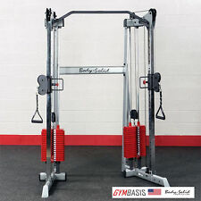 NEW 2016 Body-Solid GDCC210 Compact Functional Trainer Machine w/210lb red stack