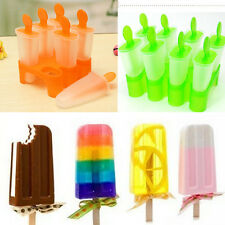 6 x DIY Frozen Ice Cream Popsicle Maker Lolly Mould Pan Tray Mold Kitchen Tool