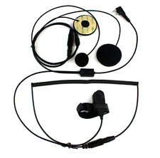 2 PIN Professional Motorcycle Helmet Headset For Kenwood BAOFENG Ham Radio