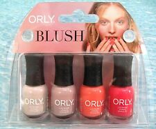 ORLY BLUSH 4-pc Mani Minis Nail Polish Set~NAKED DARE CHEEKY FIRST *NIB