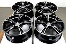 17 4x114.3 4x100 Wheels Fits Accord Black Jetta Integra Corolla 4 Lug Rims