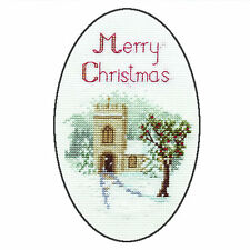 Derwentwater Designs The Church Christmas Card Cross Stitch Kit
