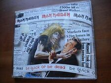 CD SINGLE IRON MAIDEN BE QUICK OR BE DEAD + 2 HOLLAND PRESS SLIM CASE RARE METAL