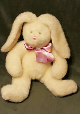 "FRIENDZIES Target White Bunny Rabbit 2000 Lovey Plush Stuffed w/ Bow 13"" Tall"