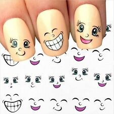Cartoon Gifts 3D Nail Decal Smiling Face Manicure Tip Nail Art Stickers