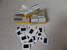 FIVE VINTAGE KODAK BOXES FILLED WITH 200 AMATEUR 35mm SLIDES FROM  THE1950'-90's